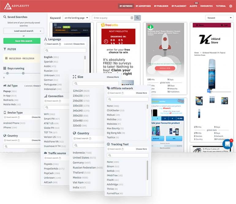 AdPlexity dashboard